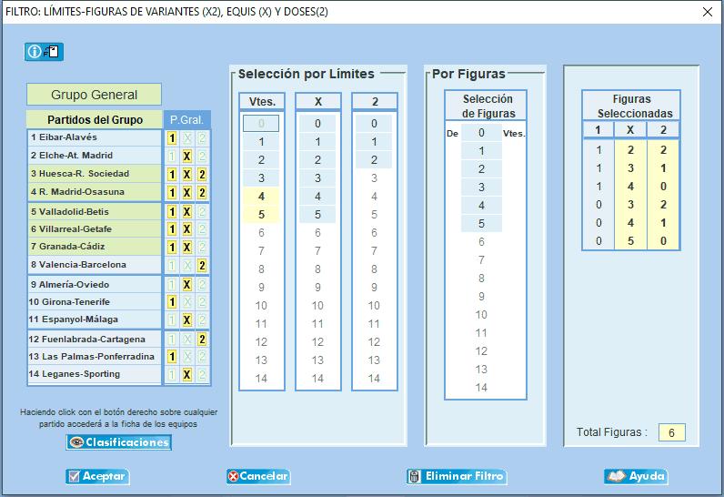 Pronostico Quiniela condicionada con Q15 QuinceGol